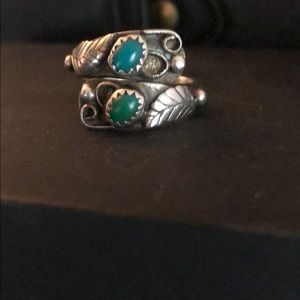 Vintage SS/turquoise ring